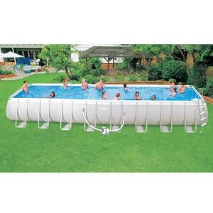 Intex Ultra Frame 18 By 9 Foot By 52 Inch Rectangular Pool Set Things All Kids Want