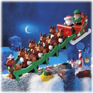 Buy Fisher Price TWAS THE NIGHT BEFORE CHRISTMAS Reindeer Story Set ...